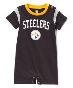 2070e4123 Outerstuff Pittsburgh Steelers Old School Romper - Infant
