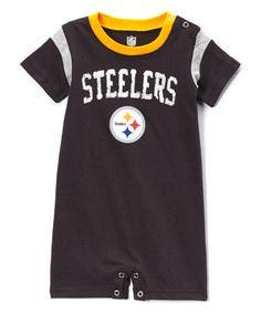 35b27227c Pittsburgh Steelers Old School Romper - Infant  zulily  zulilyfinds Steelers  Stuff