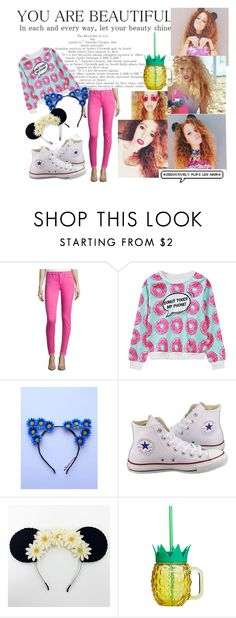 """""""Mahogany LOX"""" by liliapetrivna on Polyvore featuring мода, WithChic, Converse и Disney"""