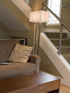Pipes For Indoor Stair Rail Design, Pictures, Remodel, Decor and Ideas