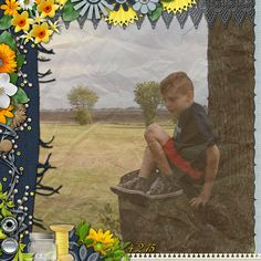 Layout created using the kit Collection Blue Jean Day Dreams from #AmandaCreation