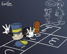 Jiminy Cricket, Singing In The Rain, Hopscotch, Pinocchio, Dreamworks, Pixar, Deviantart, Songs, The Originals