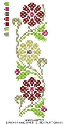 Hand Embroidery Projects, Embroidery Flowers Pattern, Hand Embroidery Patterns, Embroidery Techniques, Simple Cross Stitch, Cross Stitch Rose, Cross Stitch Flowers, Cross Stitching, Cross Stitch Embroidery