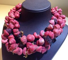 Arunashi seashell, gold, diamond, and spinel necklace new for Baselworld 2014