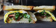 """Sandwich #278–""""In the Mail"""" Fried Egg with Bacon and Strawberries"""