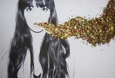 Ouro, dourado, preto, branco, Arte - imagem inspiradora sobre PicShip.com