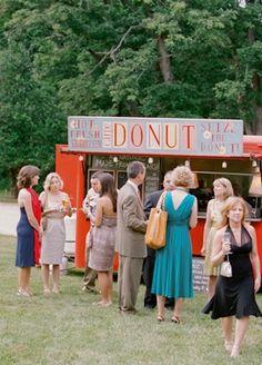 reception, retro, donuts, barnyard, rustic, embellishments, wedding style, Food Truck, modern , Summer, classic, food, wedding, Middletown , Maryland
