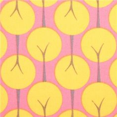pink monaluna flower tree organic fabric treelined petal USA