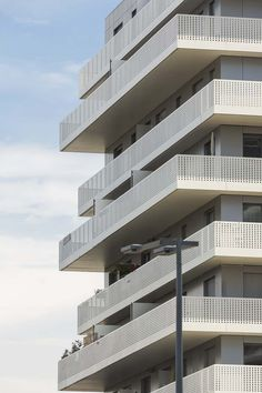 AZC architecture completes construction on 'terrace 9' residential towers in Paris