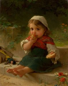 EMILE MUNIER (French, 1810-1895). Portrait of a Child, 1880.Oil on canvas.