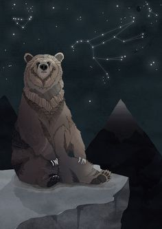 Constellation Bear Art Print