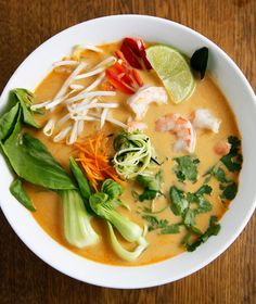 Thai Vegetable Shrimp Curry Soup