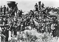 May the ceremonial Golden Spike was struck, connecting the Union Pacific Railroad and the Central Pacific Railroad. The 2000 miles of transcontinental track reduced the overland trip from four to six months to six days. Iconic Photos, Old Photos, Vintage Photos, Vintage Stuff, Us History, American History, History Pics, History Channel, Family History