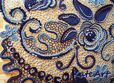 Платья ручной работы. Платье вязаное в технике ирландского кружева Синие розы. Екатерина Полякова - KateArt.. Ярмарка Мастеров.
