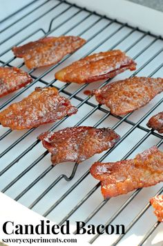 Candied Bacon- quite addictive- my family BEGS for me to make this recipe for snacks, sandwiches and salads!