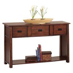 Have to have it. Progressive Furniture Sofa Table/Desk - Dark Ash - $309.99 @hayneedle