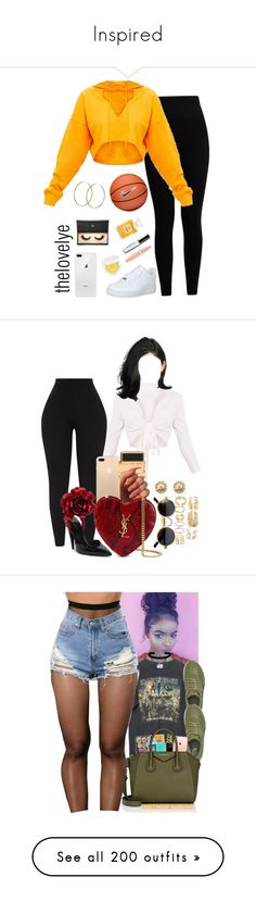 """""""Inspired"""" by imwhit ❤ liked on Polyvore featuring Pepper & Mayne, NIKE, Puma, Maybelline, Lash Star Beauty, Chanel, Pernille Corydon, Givenchy, Yves Saint Laurent and Ileana Makri"""