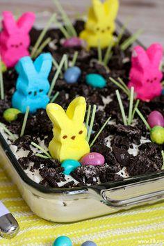 Easter Oreo Dirt Cake  - CountryLiving.com