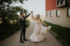Fiocco semplici motivo: coppia di sposi freschi creative-Cover