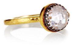 Double bezeled ring