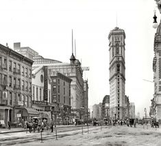 "New York circa 1904. ""Longacre Square."" Soon to be renamed Times Square after the recently completed New York Times tower seen here"