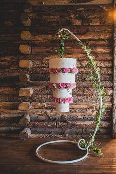 4 Tier Hanging Wedding Cake by Oliver James Sugarcraft Creations