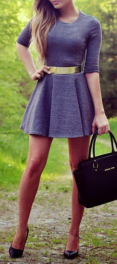 4da4229f03 Elegant Grey Dress Elegant Dresses