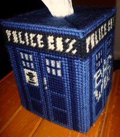 TARDIS Tissue Box Holder | Community Post: 21 Doctor Who Inspired Crafts... might need to make some of these... for myself and a select few others.