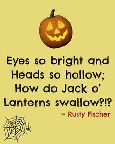Jack o' lanterns... A Halloween poem