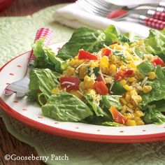 Skillet-Toasted Corn Salad from 101 Soups, Salads & Sandwiches Cookbook by Gooseberry Patch