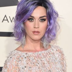 Katy Perry perfectly rocks the ultimate beauty PSA: Pastels are much easier to pull off for short-haired girls than long-haired ones. You avoid that whole mermaid thing.