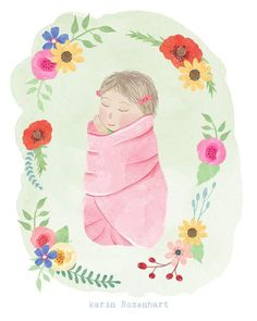 Karin Rozenhart illustration: { r o z e } It's a girl