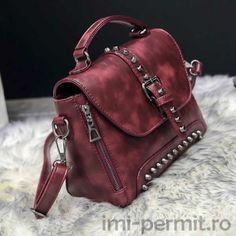 Geanta vintage din piele Leather Backpack, Leather Bag, Satchel Purse, Leather Handbags, Brown, Vintage, Fashion, Colors, Feminine