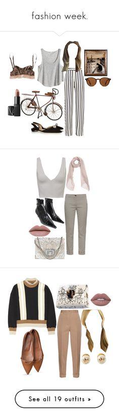 """fashion week."" by anastasiabrownn ❤ liked on Polyvore featuring Nicholas, H&M, Paul Andrew, Dot & Bo, NARS Cosmetics, Marni, Ray-Ban, Sarah Pacini, Kookaï and Etro"