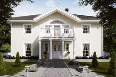House Paint Exterior, Exterior Design, Concrete Patio Designs, I Love House, House Information, Interior Garden, Facade House, Big Houses, House Goals