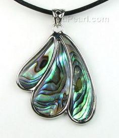 Paua abalone fan shaped shell pendant on sale - pearl jewelry wholesale Shell Jewelry, Glass Jewelry, Pearl Jewelry, Pendant Jewelry, Unique Jewelry, Jewelery, Paua Shell, Shell Pendant, Pearl Pendant