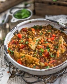 Vegan Two Lentil Potato Stew is easy, delicious, and satisfying. Nourishing veggies, hearty lentils, and warm spices create a dish everyone will love. Vegan Soups, Vegan Vegetarian, Vegetarian Recipes, Healthy Recipes, Vegan Stew, Raw Vegan, Soup Recipes, Whole Food Recipes, Dinner Recipes