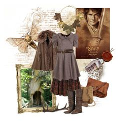 """""""the hobbit (-girl)"""" by whitekirin ❤ liked on Polyvore featuring Antler, Marc Jacobs, Forever 21, Golden Goose, Topshop, shabby chic, granny style, tolkien, baggins and boho"""