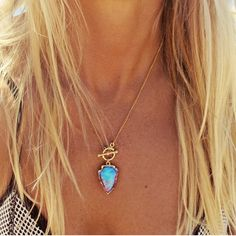 https://www.bkgjewelry.com/sapphire-ring/469-18k-yellow-gold-blue-sapphire-ring.html Bioluminescence Arrowhead Necklace by Long Lost Jewelry
