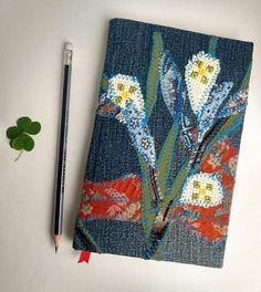 Floral denim Journal, notebook, bullet journal, personalized journal, journal diary, travel journal, diary, junk journal, writing journals