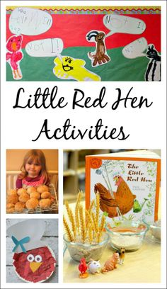 A collection of awesome Little Red Hen activities for kids. Use these engaging, hands-on activities to extend the classic story of The Little Red Hen. Fairy Tale Activities, Farm Activities, Hands On Activities, Language Activities, Retelling Activities, Spring Activities, Little Red Hen Activities, The Little Red Hen Preschool, Little Hen