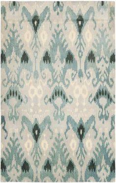 Living Room: Rug IKT216B - Safavieh Rugs - Ikat Rugs - Wool Rugs - Area Rugs - Runner Rugs