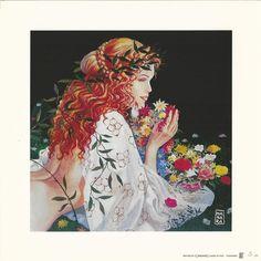 "Manara, Milo - lithograph ""Flowers"" - W.B."