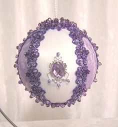 267 CB Frosted Amethyst Nostalgia Ornament by WhiteHawkOriginals on Etsy