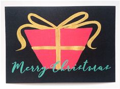 Merry Christmas card (set of  5) by MEIKOILLUSTRATION on Etsy