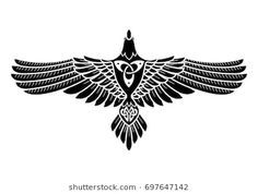 Raven Odin Norse Celtic Style Isolated Stock Vector (Royalty Free) 697647142 The Raven of Odin, In Norse, Celtic style, isolated on white, vector illustration Norse Tattoo, Celtic Tattoos, Viking Tattoos, Celtic Raven Tattoo, Inka Tattoo, Body Art Tattoos, Cool Tattoos, Rabe Tattoo, Symbol Drawing