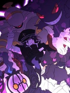 I like Danganronpa. I like Pokemon. Kokichi's great and ghost Pokemon are best. So no way I could avoid pinning this. New Danganronpa V3, Danganronpa Memes, Danganronpa Characters, Super Danganronpa, Ghost Pokemon, Crossover, Ouma Kokichi, Nagito Komaeda, Slayer Anime