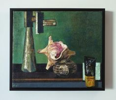 (Shell and Bulldog Clip), oil on canvas, 2013
