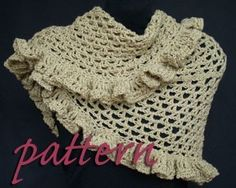PATTERN for hand-crocheted ruffle scarf and shawl