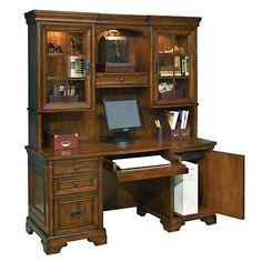 Aspen Home Centennial Credenza Desk with Hutch